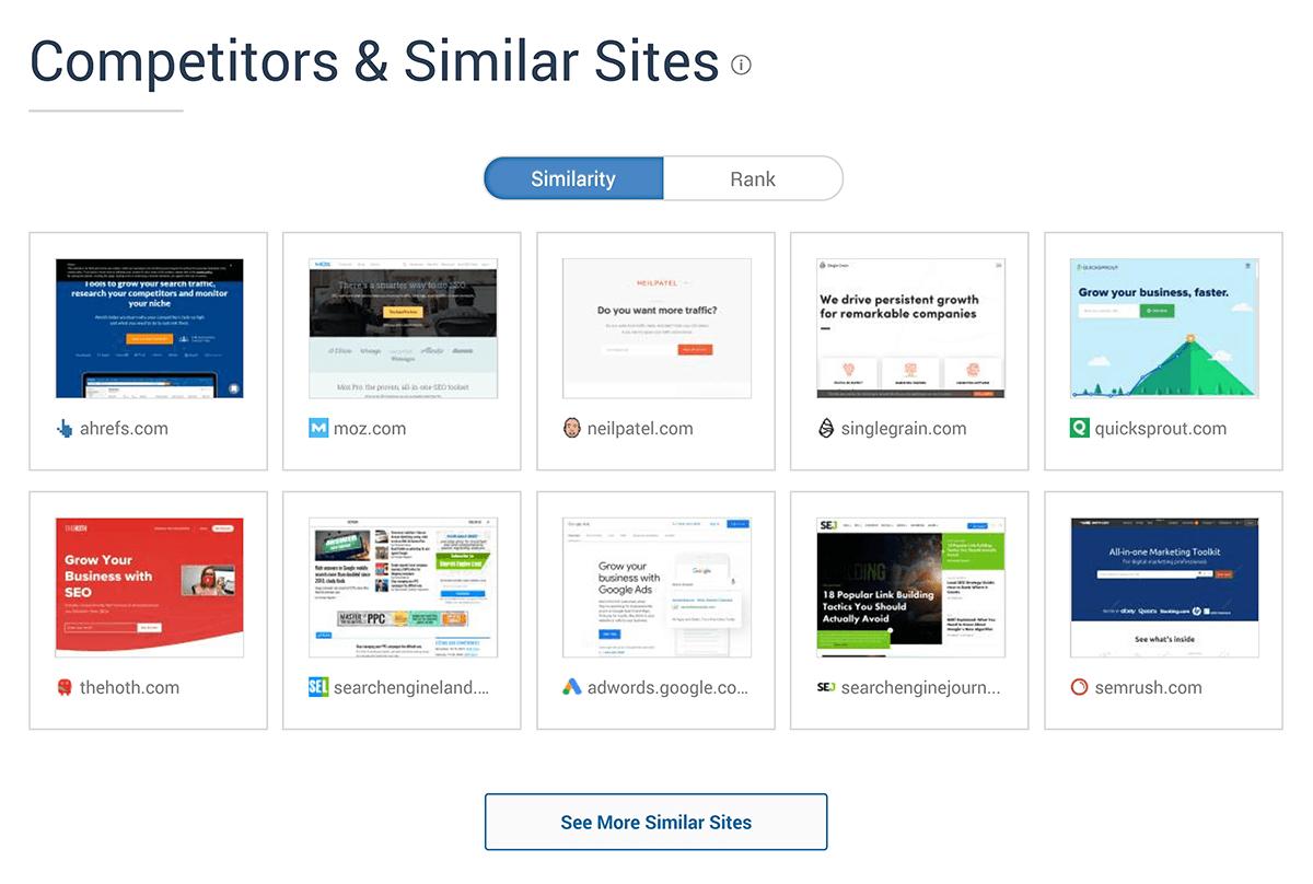 similarweb backlinko competitors