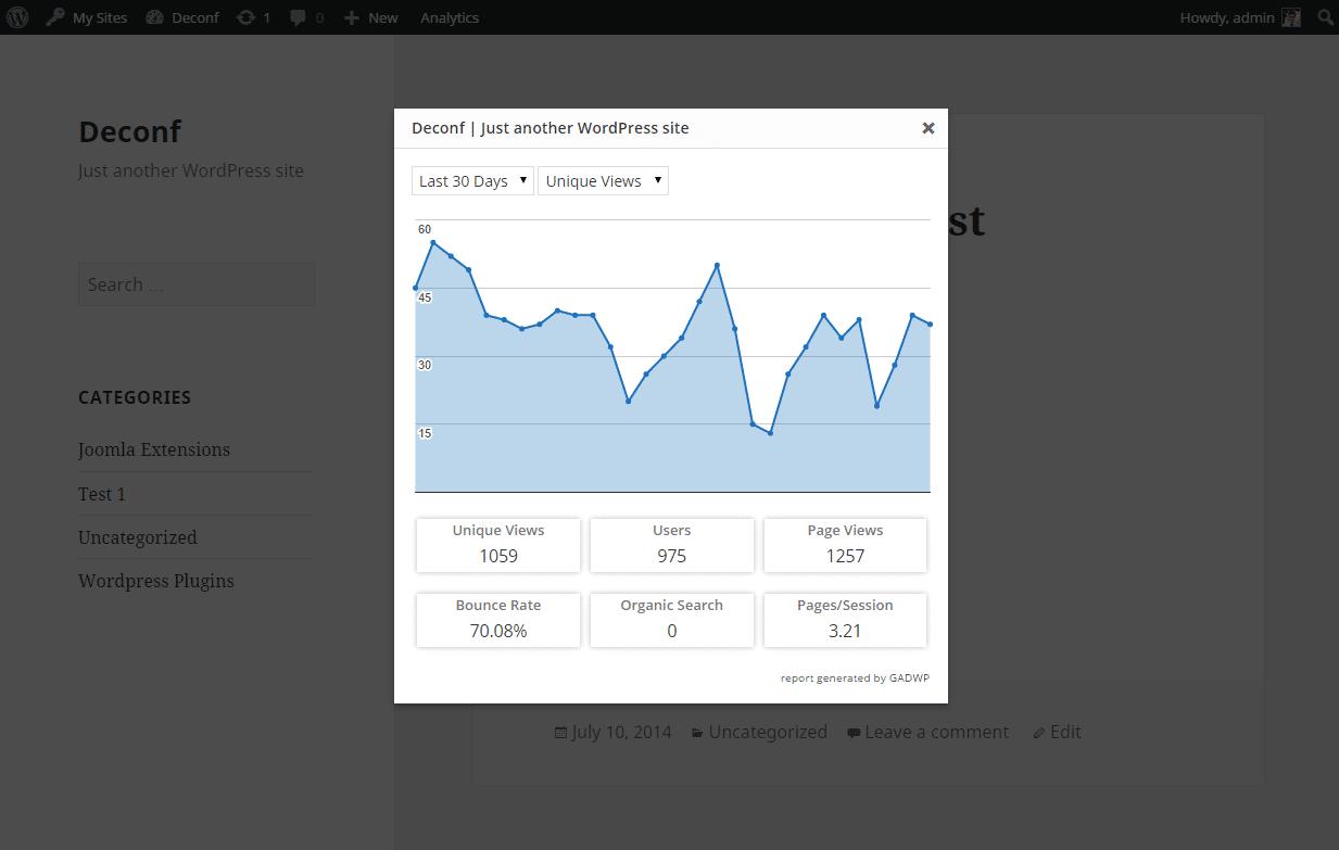 GADWP plugin