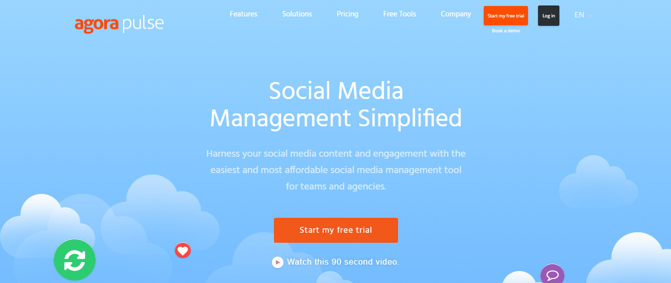 Simple Affordable Social Media Management and automation tool Agorapulse