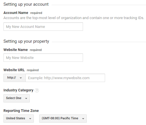 Account setup and details For tracking