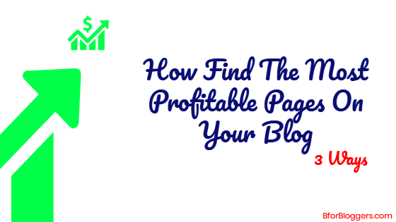 How To Find The Most Profitable Page On Your Blog