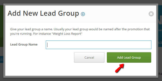 Add name of lead group
