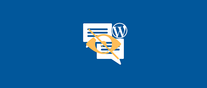 hide comments from contributors WordPress