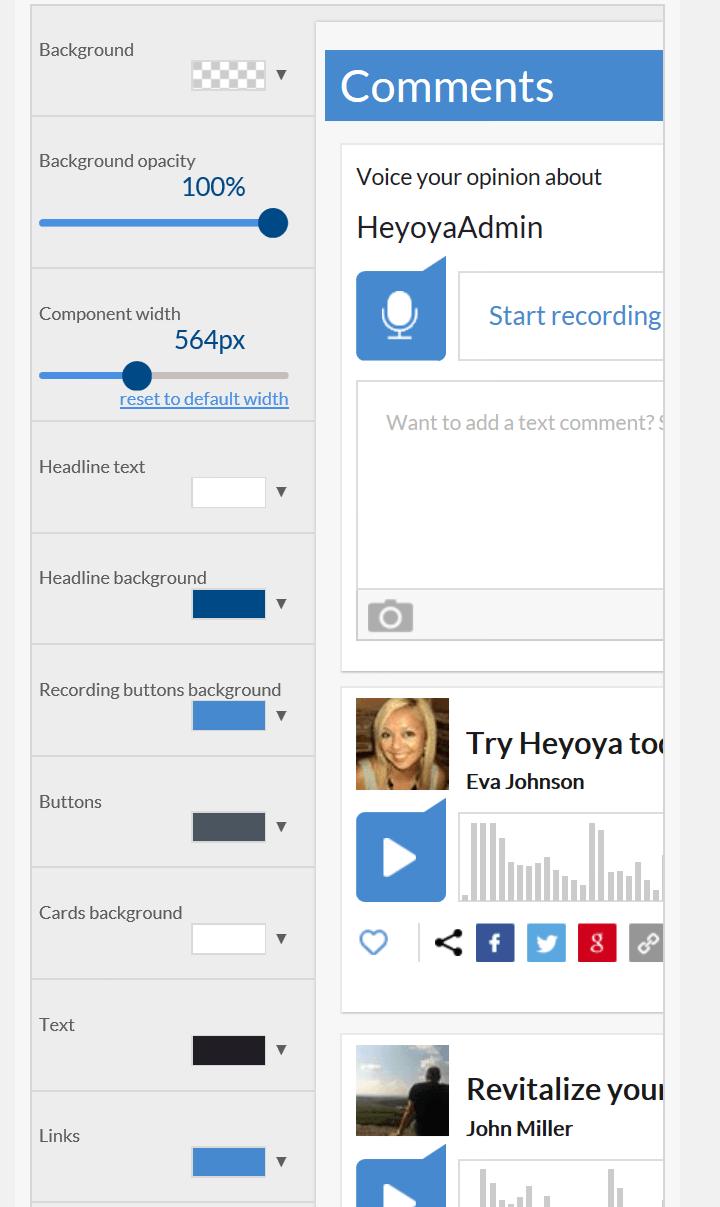 Heyoya customizing
