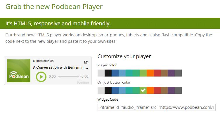 Podbean player