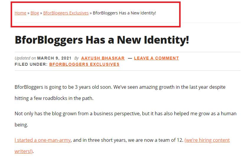 BforBloggers Breadcrumbs